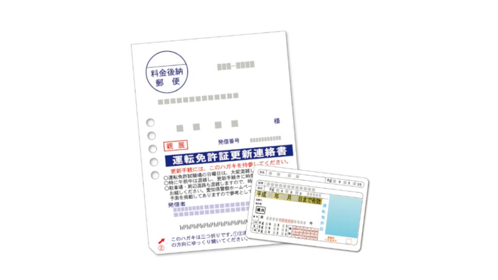 運転免許証更新連絡書